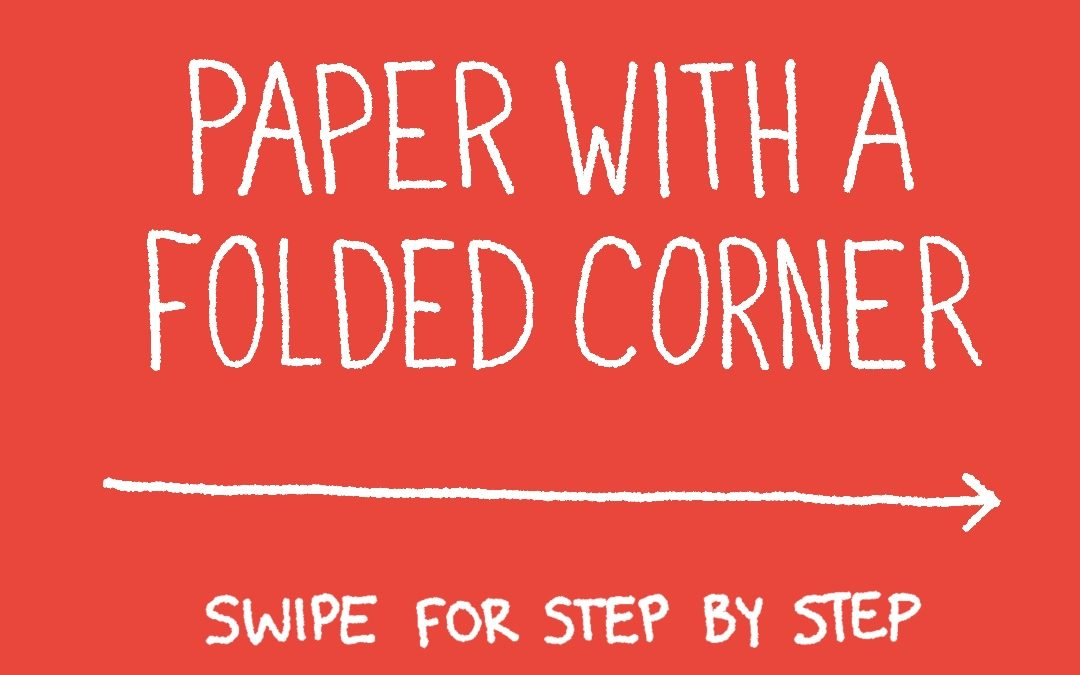 How to Draw: Paper with folded corner
